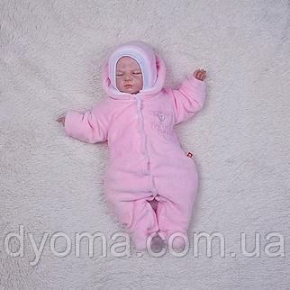 Утепленный велюровый набор Brilliant Baby (розовый), фото 2