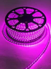 Светодиодная лента SMD 2835/120 220V розовая с линзой Код.59395
