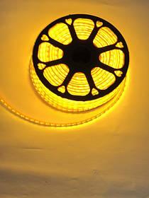 Светодиодная лента желтая SMD 2835/120 220 Вольт с линзой Код.59393