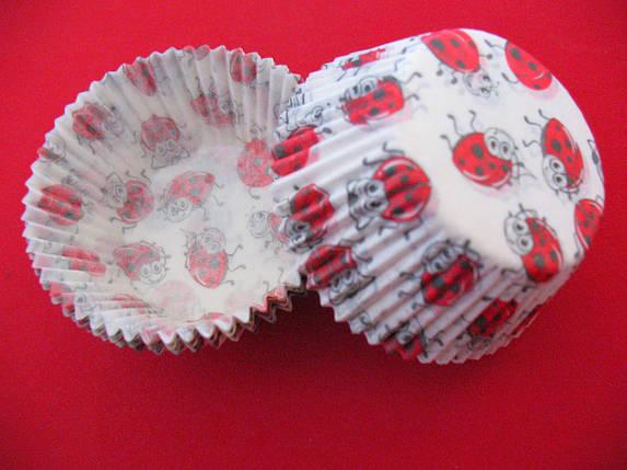 Тарталетки (капсулы) бумажные для кексов, капкейков Божьи коровки 2, фото 2