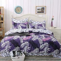 Комплект постельного белья Листья с простынью на резинке (полуторный) Berni Home
