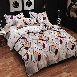 Комплект постельного белья Соты с простынью на резинке (полуторный) Berni Home