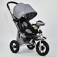 Детский трёхколёсный велосипед 698-5 Серый