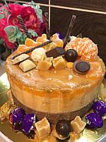 Торт на заказ. Муссовый апельсин, шоколад, солёная карамель!