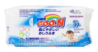 Влажные салфетки для новорожденных Goo.N для чувствительной кожи 70шт