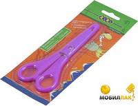 Ножницы детские ZiBi в чехле 135мм с линейкой фиолетовые