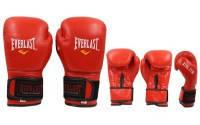 Перчатки Боксерские EVERLAST 8-12 oz кожа красный