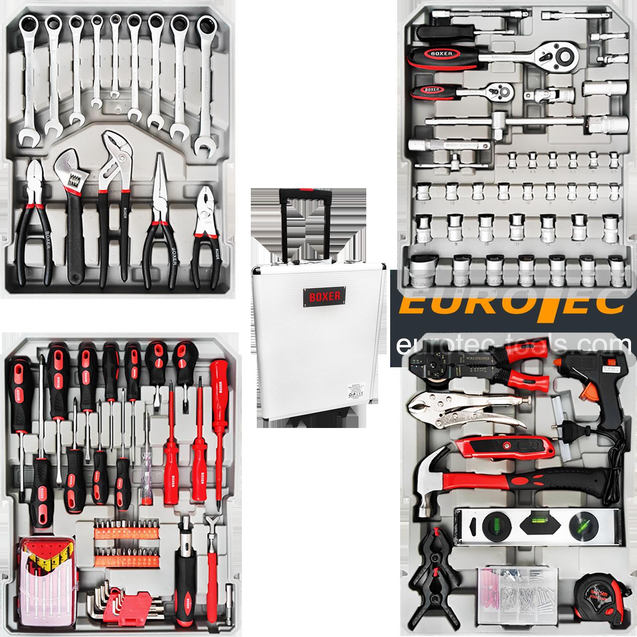 Набір інструментів універсальний Boxer BX-599, 127 предметів, набір інструментів для дому у валізі