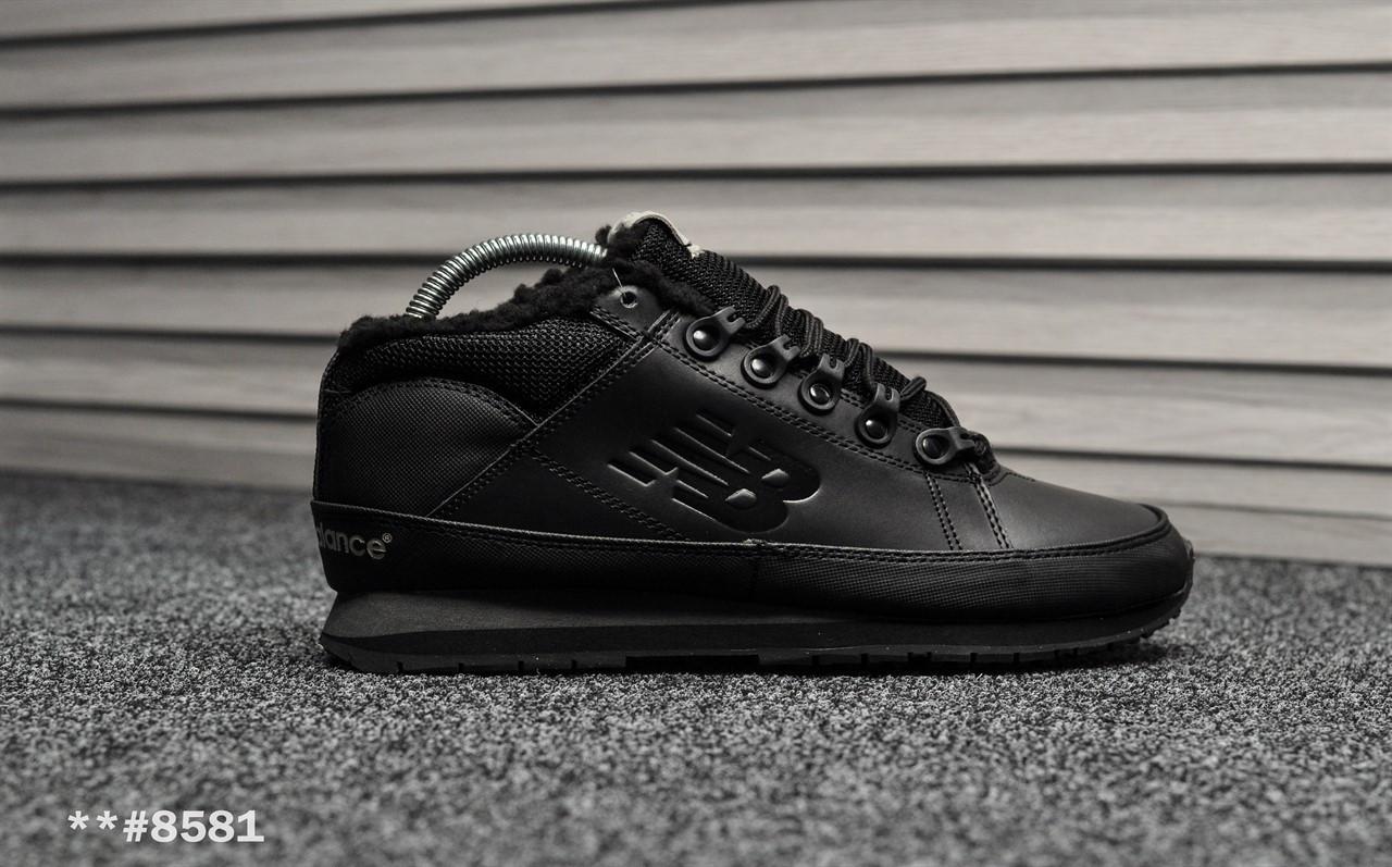 114ee41afa33 Мужские зимние кроссовки на меху New Balance 754 Black Leather - Интернет  магазин BLOOM в Киеве