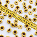"""Пуговицы """"Подсолнухи жёлтые"""" на ножке 15 мм П-035, фото 2"""