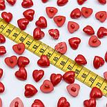 "Пуговицы ""Сердечко"" красного цвета на ножке 15 мм (П-036), фото 2"