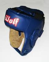 Шлем боксерский ТМ Wolf (Цвета: синий, черный, красный; Размер: M,L. )