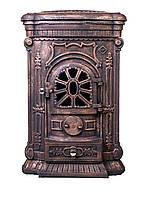 Камин печь буржуйка чугунная Bonro Gold двойная стенка 9 кВт (без ножек)