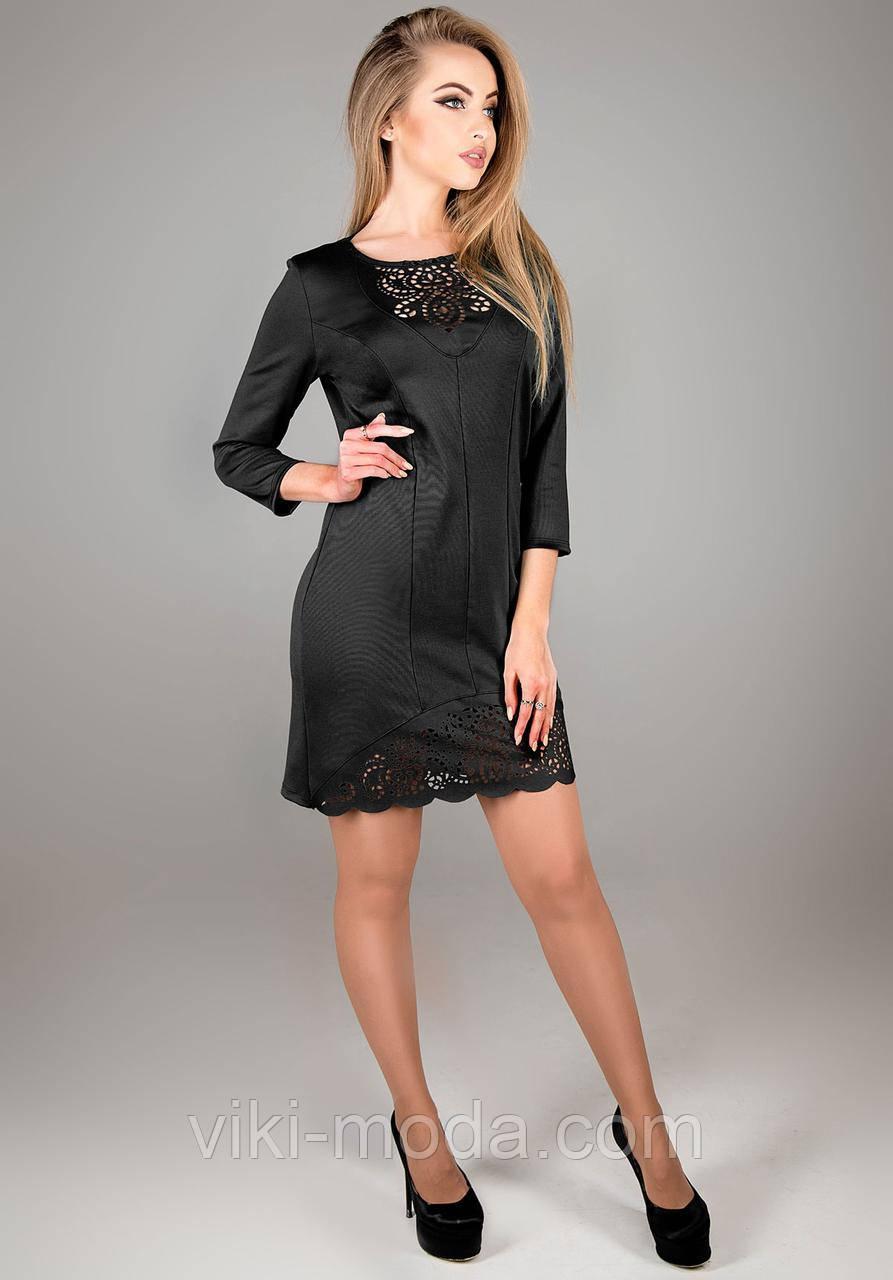 Платье прямого силуэта Форина, цвет черный