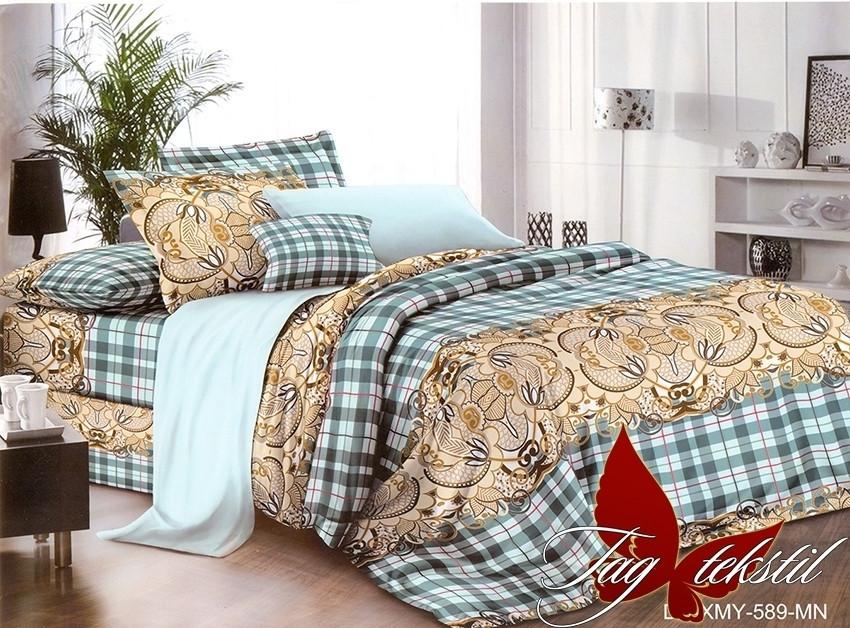 Евро комплект постельного белья с 3D эффектом XHY589