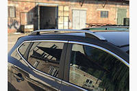 Рейлинги Nissan Qashqai 2014+ серый мат Crown Турция (цельные) /Рейлинги Ниссан Кашкай 2014+