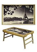 "Столик для завтрака BST PN05 бежевый 52х32см. ""automne à Paris"""
