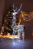 Гирлянда внешняя Adenki Олень новогодний светодиодный 210 см Белый (5-210WHITE)