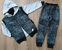 Теплый спортивный костюм тройка на мальчика 28-36 р, детские спортивные костюмы от производителя оптом
