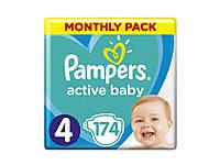 Пiдгузки Active Baby № 4 Maxi (9-14 кг) 174шт ТМPampers