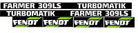 Наклейки на трактор Fendt 309ls