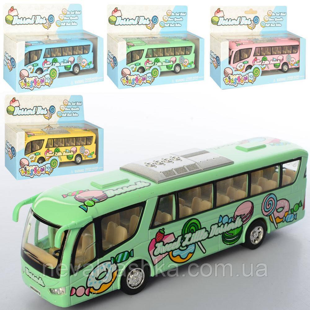 Kinsmart металлическая инерционная Кинсмарт Автобус Dessert Bus, KS7103W, 008950