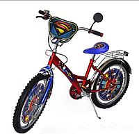 Велосипед двухколесный Супермен 20дюймов красный с синим, Опe piece crank