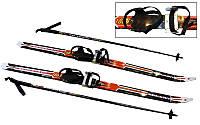 Лыжи беговые в комплекте с палками (l-лыж-110см,l-палок-90см,PVC чехол,крепл.рег.)