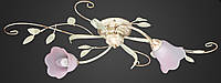 Люстра флористика кованая потолочная AR-004605 двойка, фото 1