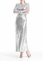 Платье aLOT 34 Серебристое (100280-34)