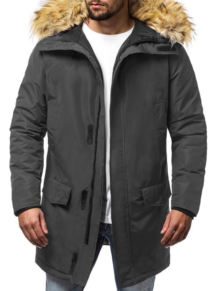 Куртка мужская темно-серая (парка). Куртка чоловіча. ТОП КАЧЕСТВО!!!