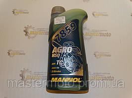 Масло моторное для 2-х тактных двигателей садовой техники MANNOL AGRO 7859 зеленое