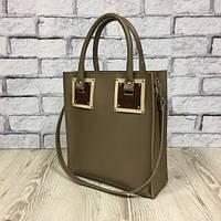 Оригинальная сумка шоппер из натуральной кожи, капучино/слоновая кость/коричневый 1799