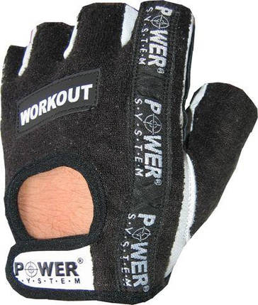 Перчатки для фитнеса и тяжелой атлетики Power System Workout PS-2200 Black, фото 2