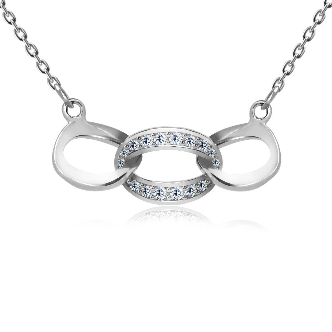 "Серебряная подвеска Kigmay Jewelry ""Символ бесконечности"""