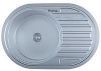 Мойка для кухни врезная овал 770 х 500 х 175/180 IMPERIAL 0,8 матовая