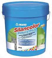 Силіконова фарба з ефектом захисту від цвілі і грибків Silancolor Paint Plus,20 кг. колір білий.Mapei.