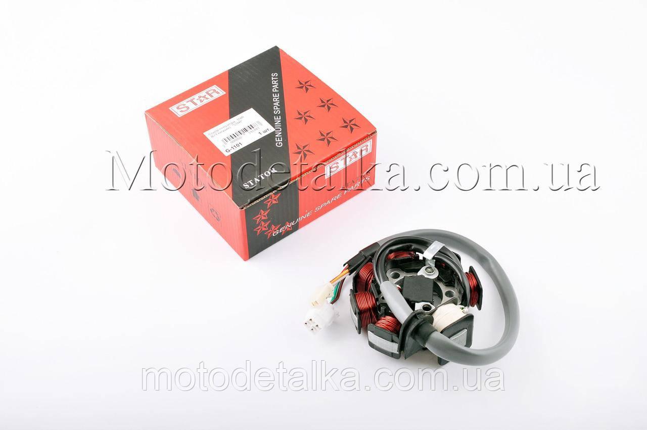 Статор генератора Yamaha VINO 125, CYGNUS 125 5NW (6+1 котушок, 5 проводів)