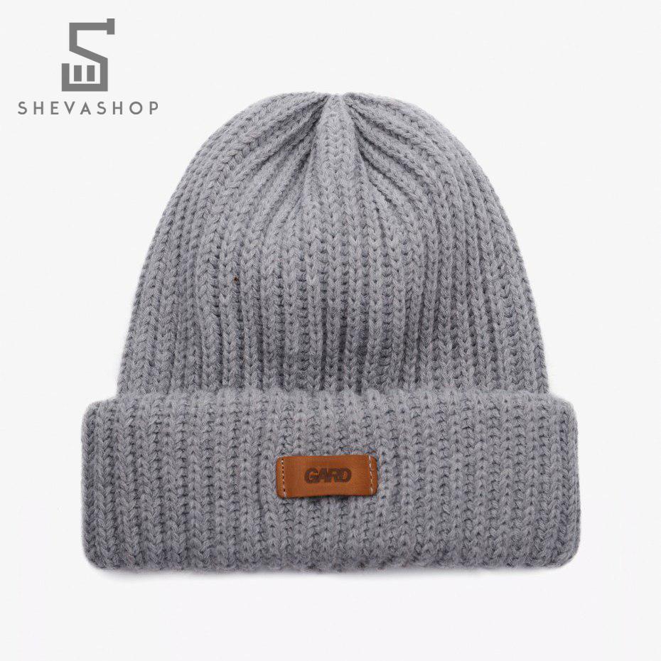 Зимняя шапка G knit   4/18 серая
