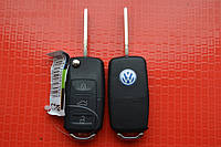 Volkswagen transporter, jetta, golf, caddy ключ выкидной 3 кнопки 434Mhz id48. 1KO 959 753 G