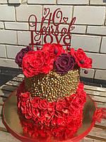 Двухъярусный торт к юбилею!  , фото 1