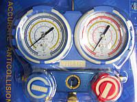 Манометричний колектор універсальний VMG-2-R410 A-03 (R-22,134,410,407)з шлангами Value БЛІСТЕР