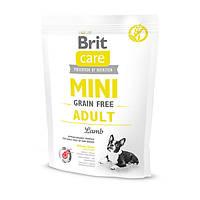 Корм для собак мини пород с ягненком Brit Care GF Mini Adult 7 кг