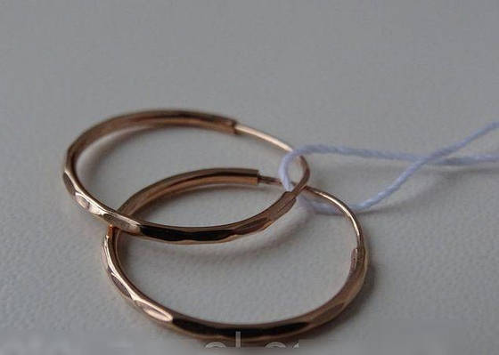 Золотые серьги кольца - конго 17 мм