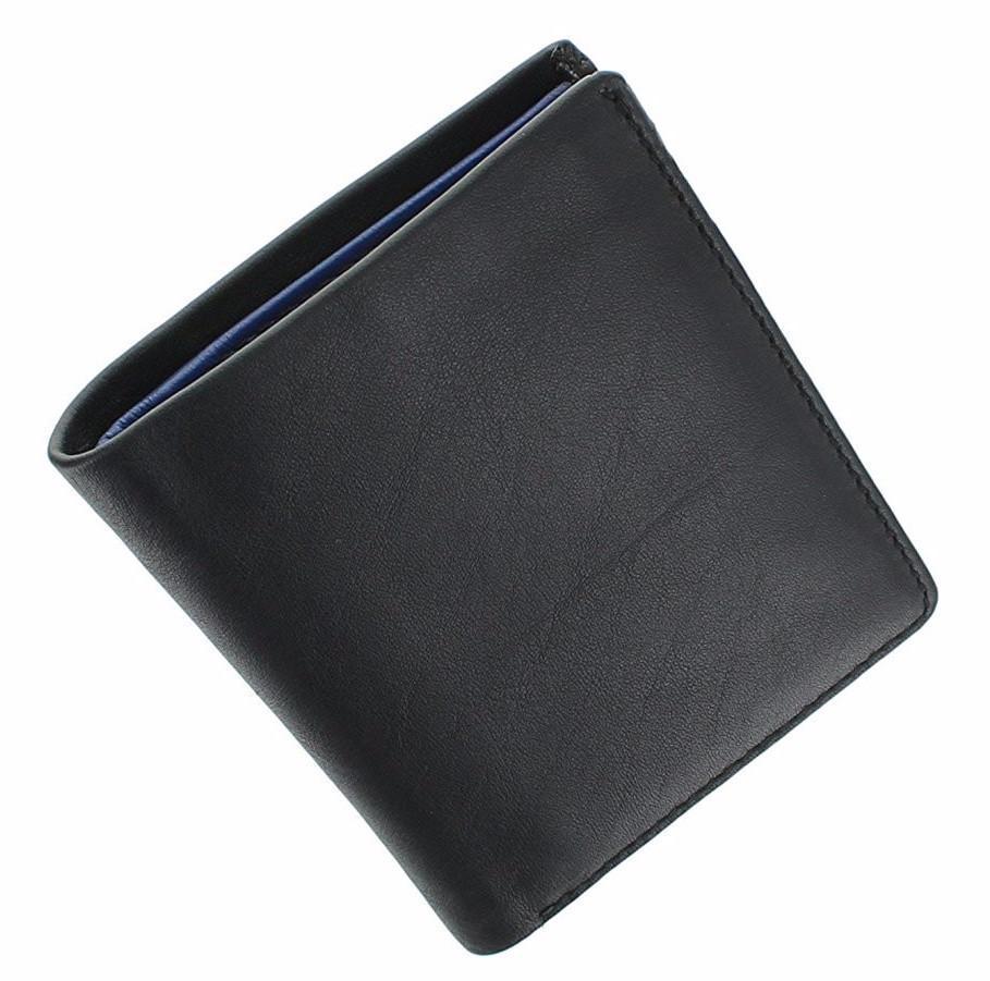 Маленький мужской кошелек Visconti VSL21 black|blue (Великобритания)