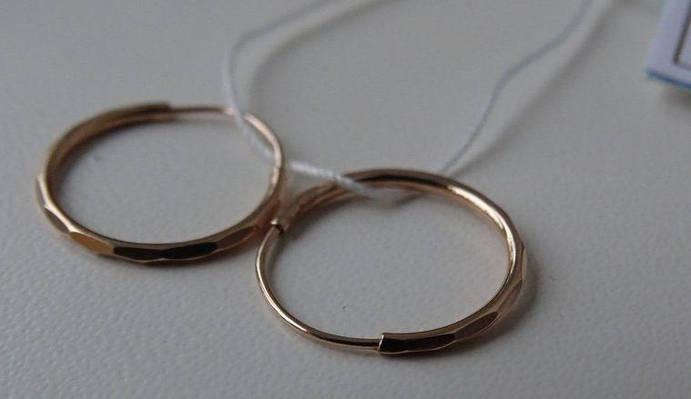 Золотые серьги кольца - конго 25 мм