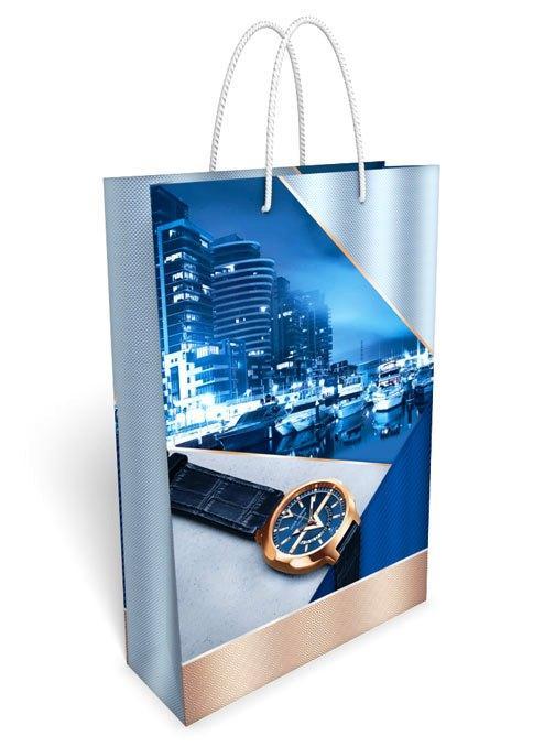 Пакет подарочный 24 х 36,5 см. Часы 31.038