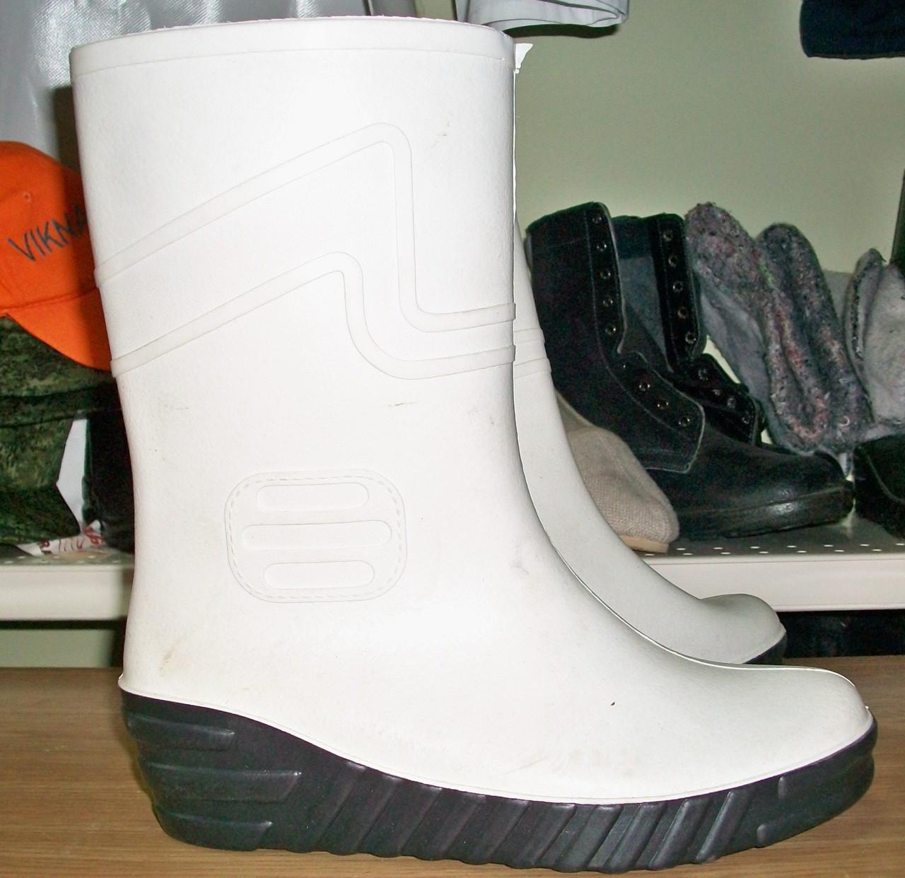 Резинові чоботи із пластикату ПВХ промислові білі 64972d822e002
