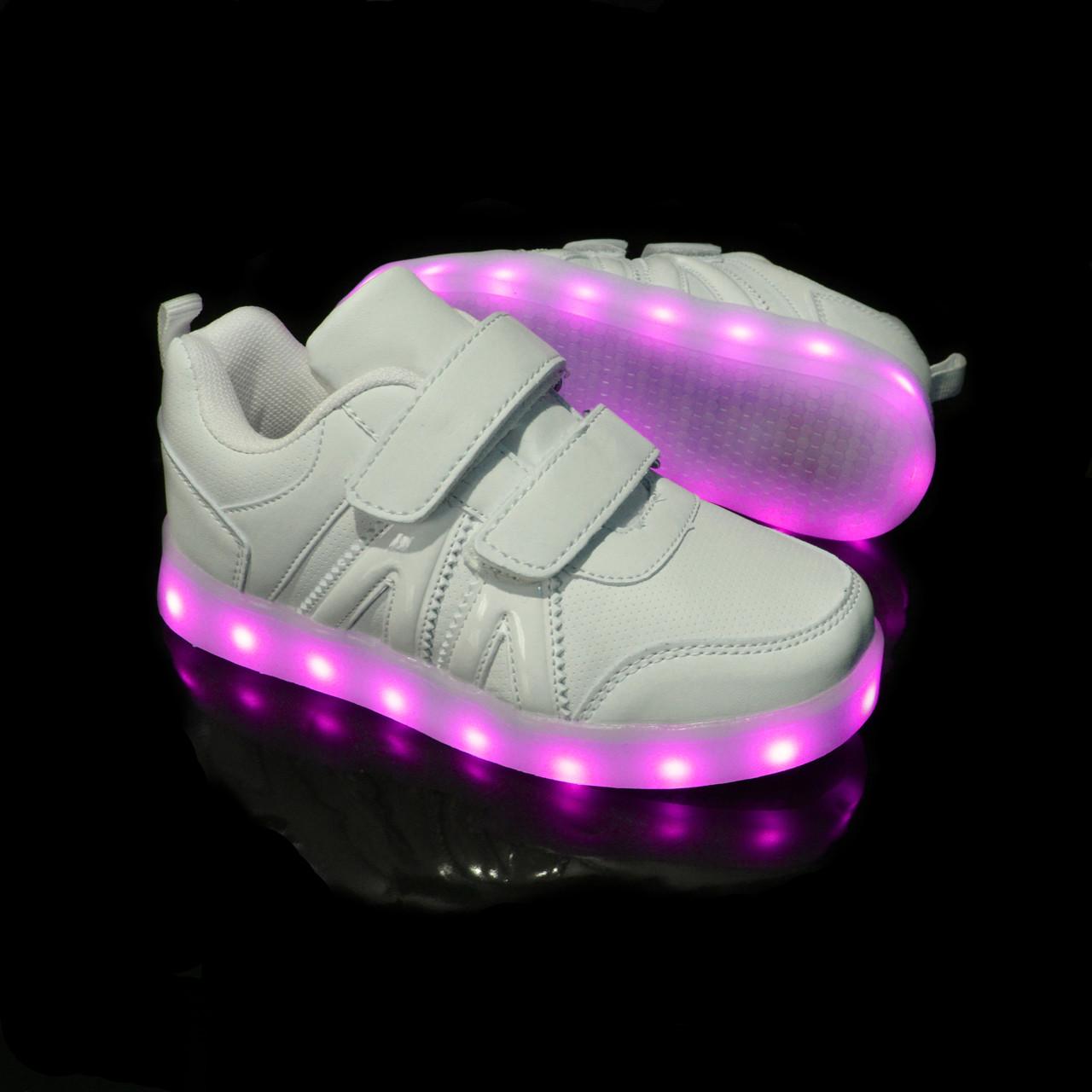 Кроссовки с LED подсветкой VENUS White 1088