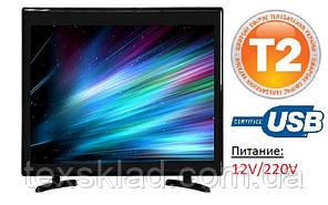 Телевізор c T2 тюнером L19 LED (17 дюймів/220V-12V)